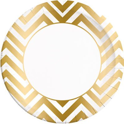 Тарелка Шеврон Gold 23см 8шт/Р 1502-3626