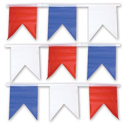 Гирлянда флаг бел/син/крас(1фл-1цв) 10м 1505-0111