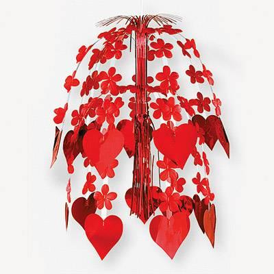 Украшение подвесное, Сердца Цветы, 61см 1505-0175