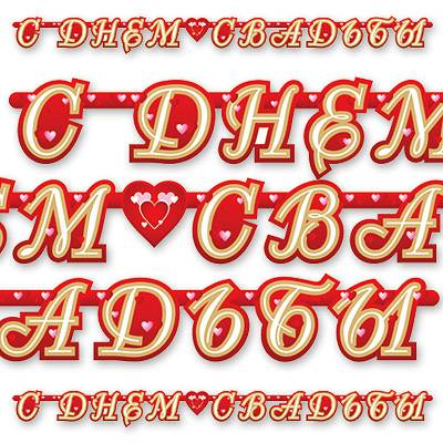 Гирлянда С ДНЕМ СВАДЬБЫ Сердца 210см 1505-0221