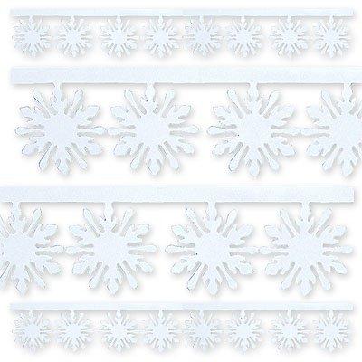 Гирлянда Снежинка фольгированная 3мх10см 1505-0267