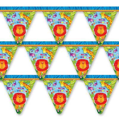 Гирлянда С Днем Рождения Лимпопо 200см 1505-0402