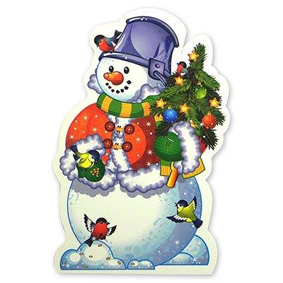 Баннер Снеговик с елочкой, 41 см 1505-0514