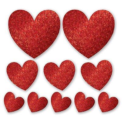 Баннер-комплект Сердце блеск 10 штук 1505-0534