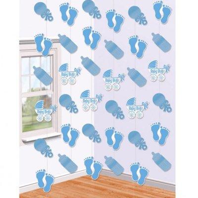 Гирлянда вертик Коляска голубая, 6 штук 1505-0937