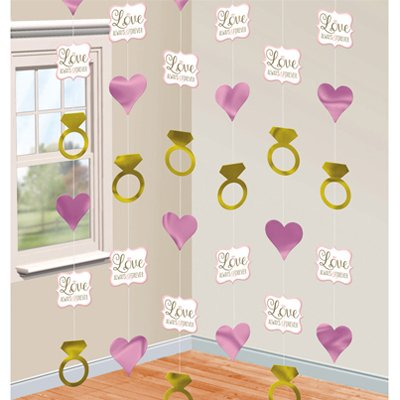 Гирлянда вертик Love Бриллиант,6 штук 1505-1109