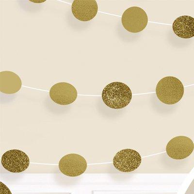 Гирлянда Круги Gold блеск 2,1м 6шт 1505-1165