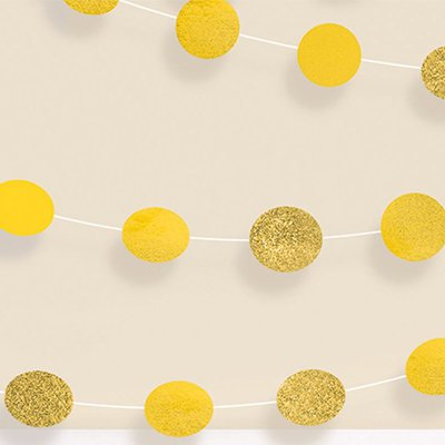 Гирлянда Круги Yellow Sunshine 2,1м 6шт 1505-1171
