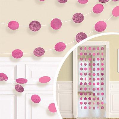 Гирлянда Круги Bright Pinkблеск 2,1м 6шт 1505-1172