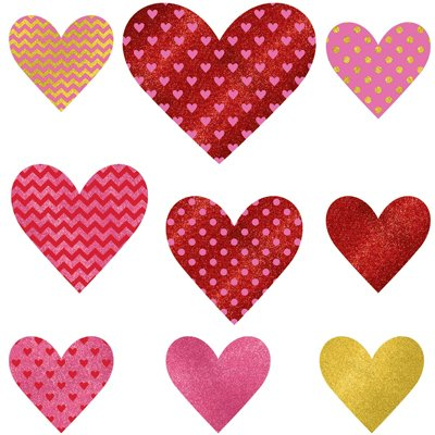 Баннер-комплект Сердце блеск, 9 штук 1505-1312