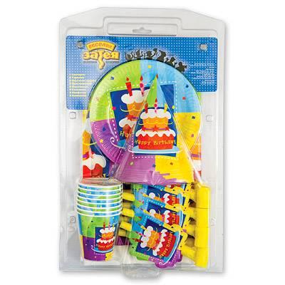 Набор одноразовой посуды для детского дня рождения 1506-0100