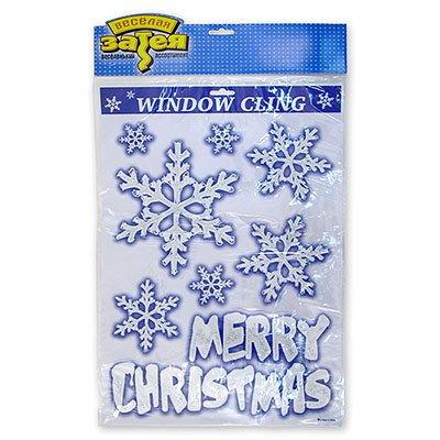 Наклейка на окно Новогодняя 8шт 1507-0216