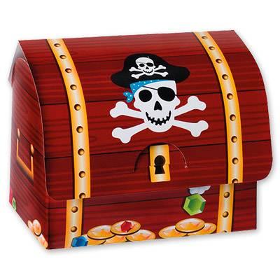 Сундук Пирата бумажный, 6 шт. 1507-0593