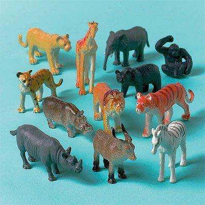 Игрушки Животные джунгли, 12 штук 1507-0786