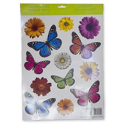 Наклейки на окно Бабочки Цветы, 13 штук 1507-0861