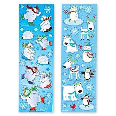 Наклейка Снеговик Веселый, 8 листов 1507-0951