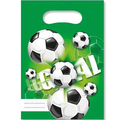 Пакеты для сувениров Футбол зеленый, 6шт 1507-1169