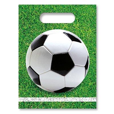 Пакеты Футбол зеленый, газон, 6 штук