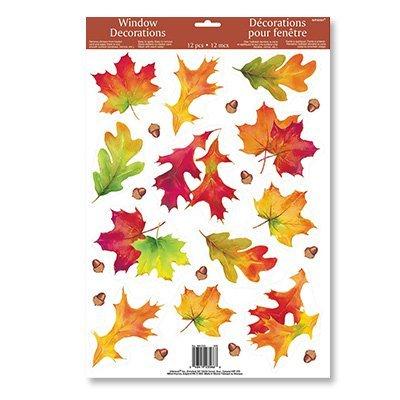Наклейка на окно Осенние листья 1507-1236