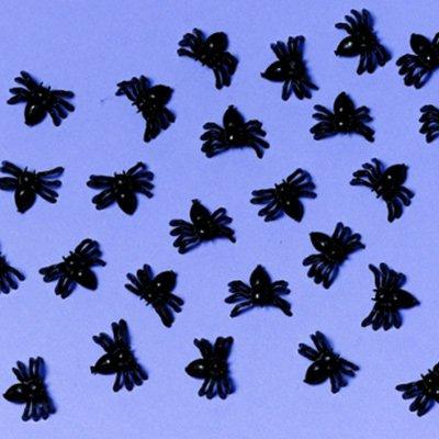 Пауки мини, черные, 50 штук 1507-1263