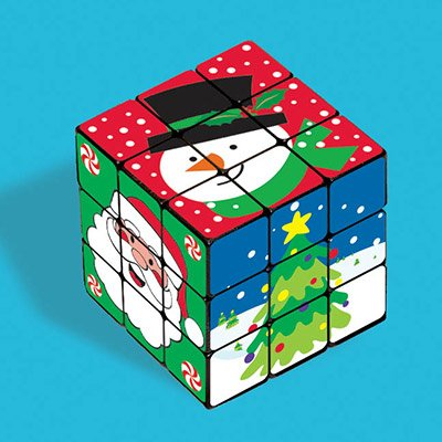 Игра-головоломка Кубик Новый год, 6 штук 1507-1540