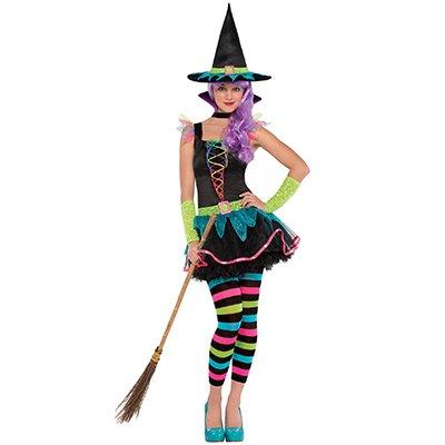 Костюм ведьмочки на хэллоуин для девочки, S 1508-0006