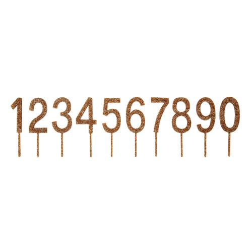 """Топперы для торта """"Акриловые цифры"""", золото 156448"""