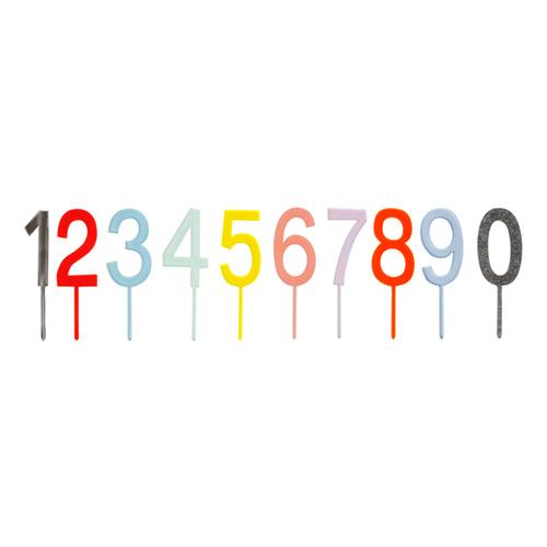 """Топперы для торта """"Цифры"""", разноцветные 156457"""