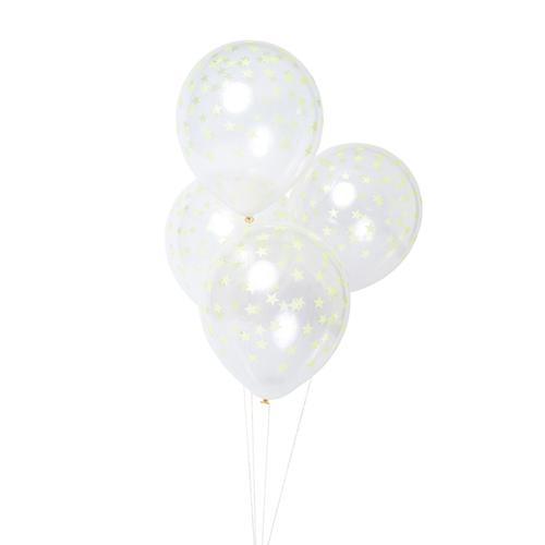 "Воздушные шары ""Звезды"", желтые, неон"