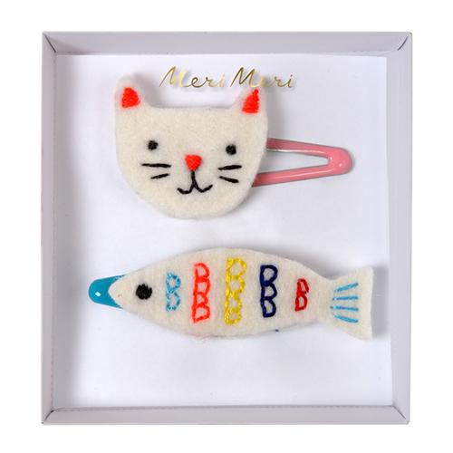Заколки рыбка и кошка 160795