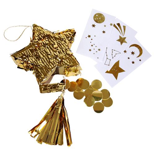 """Мини-пиньяты для подарков гостям """"Золотая звезда"""", 3 шт. 167968"""