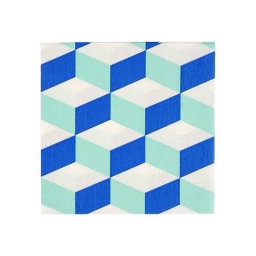 "Салфетки ""Кубик аква"", маленькие, 20 шт. 168436"
