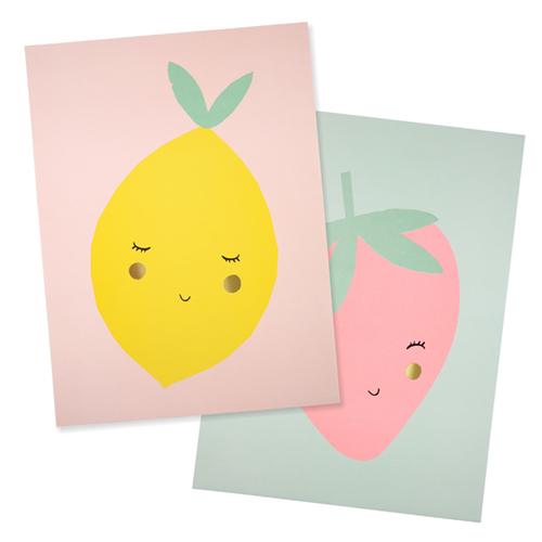 """Принты """"Лимон"""", 2 шт. 173350"""