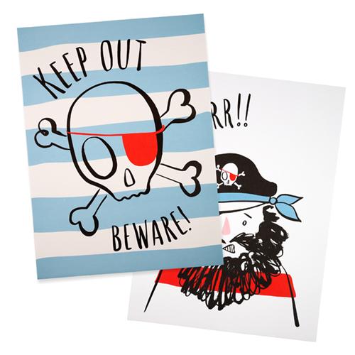 """Принты """"Пираты"""", 2 шт. 174241"""