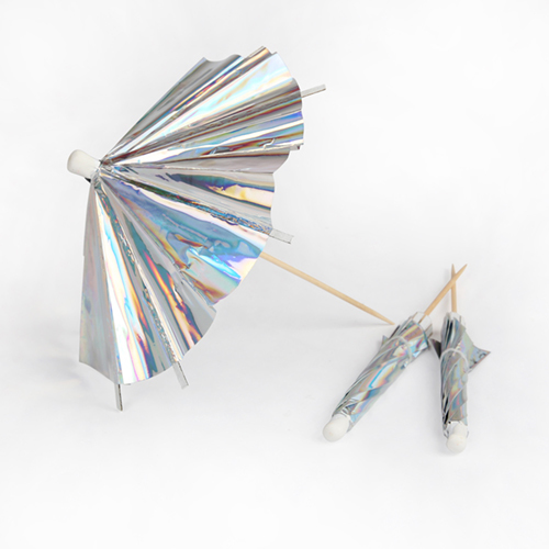 """Зонтики для украшения коктейлей """"Голографик"""", длинные, 24 шт. 174277"""