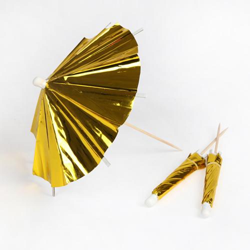 """Зонтики для коктейлей """"Золото"""", длинные, 24 шт.. 174322"""