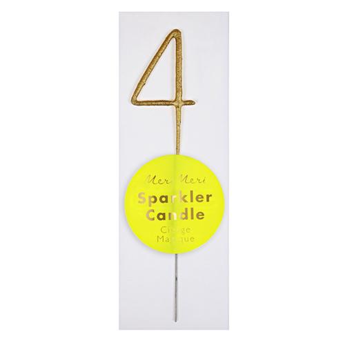 Бенгальская свеча 4, золото, мини 175546