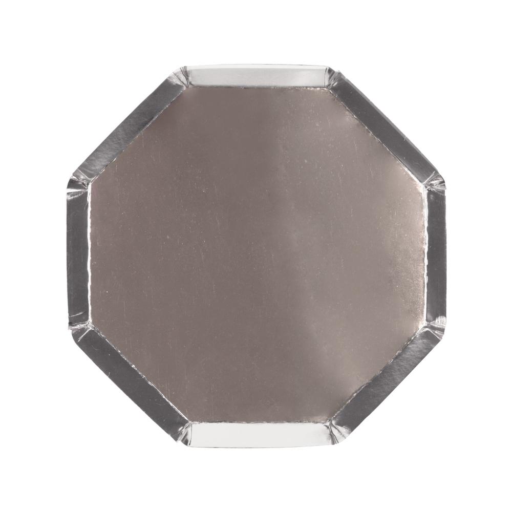 Маленькие серебряные восьмиугольные тарелки 181720