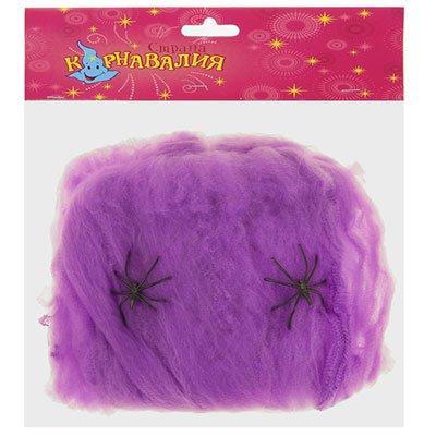 Паутина фиолетовая с 2 пауками 2001-5893