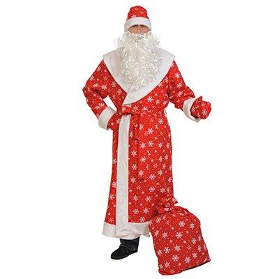 Костюм взрослый Дед Мороз, красный 2001-6258