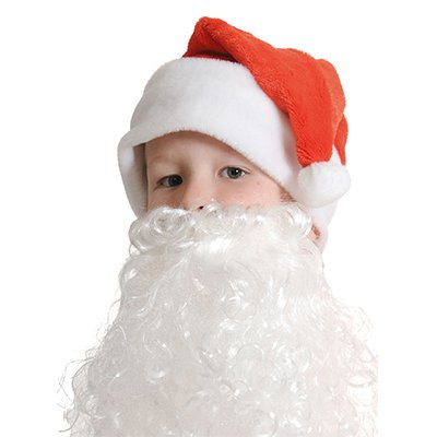 Колпак Новый Год с бородой, детский 2001-6262