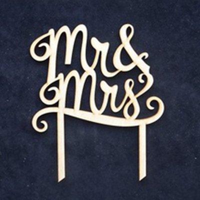"Топпер с надписью ""Mr&Mrs"" 2001-6461"