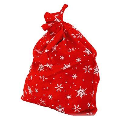 Красный мешок Деда Мороза со снежинками 2001-7195