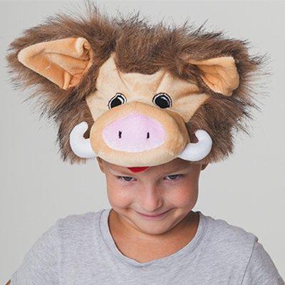 Карнавальная шапка Кабанчик бежевый 2001-7850