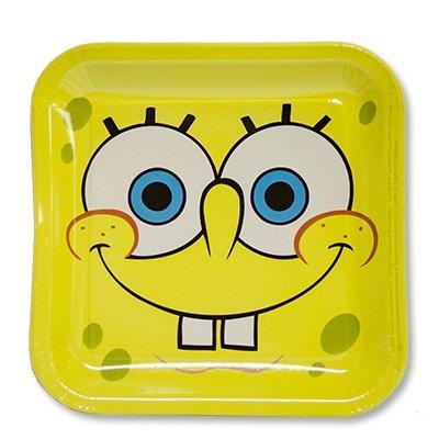 Тарелки Губка Боб квадратные, 8 штук 2005-0601