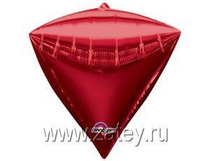 """А 3D АЛМАЗ Б/РИС 17"""" Металлик Red 1208-0296"""