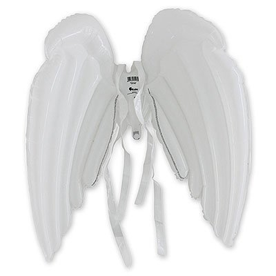 Карнавальные костюм крылья ангела надувные, белые 1501-2127