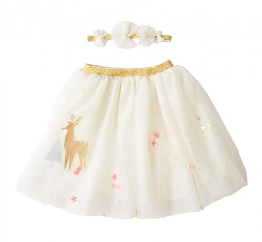 Рождественская юбка и ободок «Олени»
