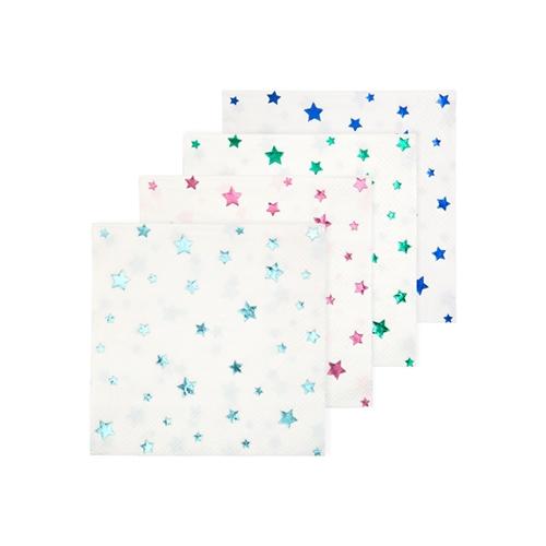 Салфетки со звёздами «Металлик», 16шт.