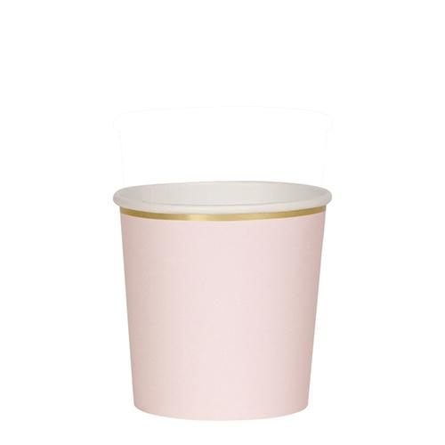 Стаканы темно-розовые «Basic», мал.